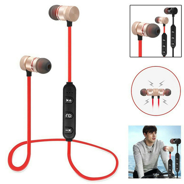 bluetooth wireless headphones sports stereo magnet earbuds with mic earphones headsets for iphone android smart phones