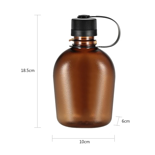 500ml/750ml Tactical Water Bottle with Handle Drinking Container Military Lightweight Portable for Outdoor Leisure