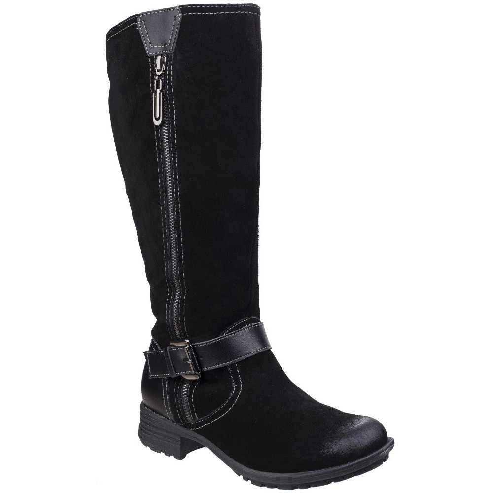 Fleet & Foster Womens/Ladies Tokyo Leather Pull On Zipped Long Boots UK Size 8 (EU 41)