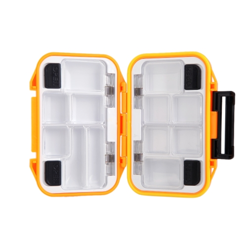 12 Compartments Waterproof Storage Case Fly Fishing Lure Spoon Hook Bait Tackle Box Orange
