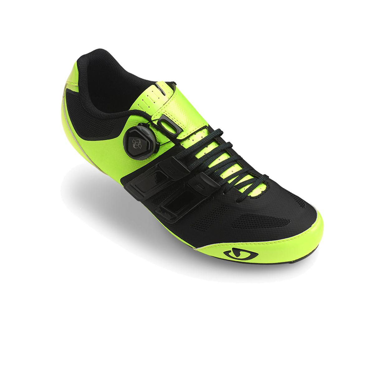 GIRO Sentrie Techlace Road Cycling Shoes 2018 Highlight Yellow/Black 40