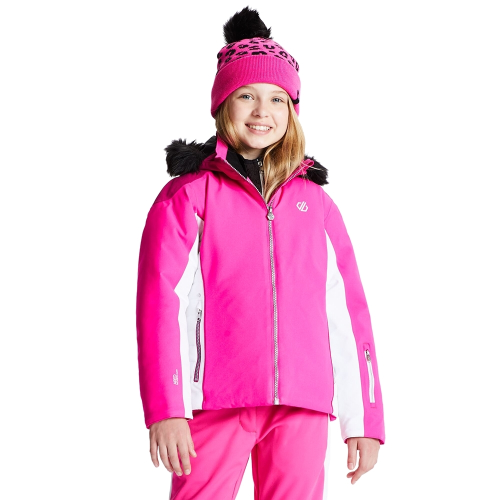 Dare 2b Girls Vast Water Repellent Hooded Ski Coat Jacket 11-12 Years- Chest 28' (71cm)