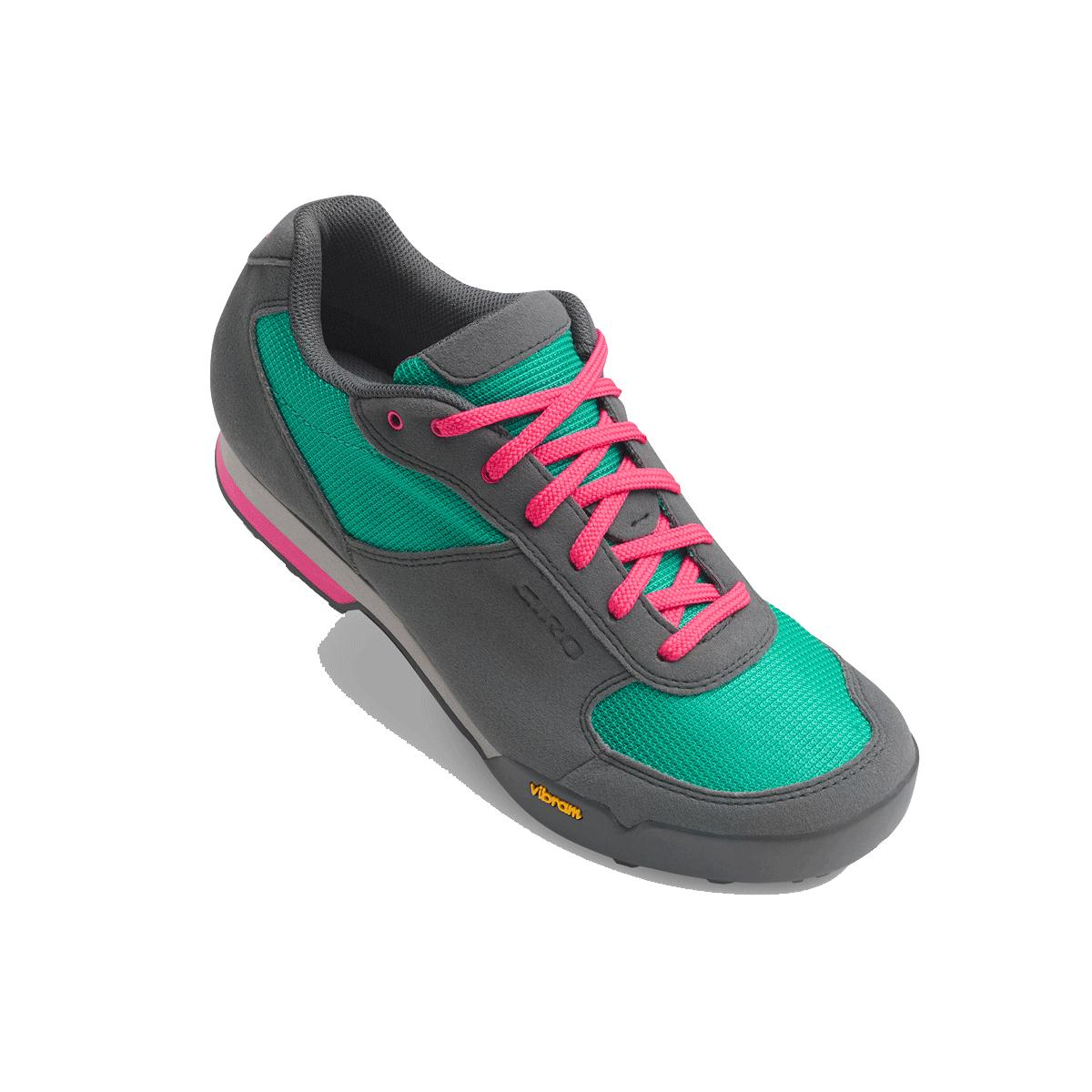 GIRO Petra Vr Womens MTB Cycling Shoes 2018 Turquoise/Bright Pink 37