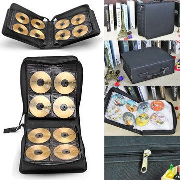 288Pcs Disc CD DVD Case Storage Bag Holder Carry Box Record Binder Sleeves Rack Storage Container