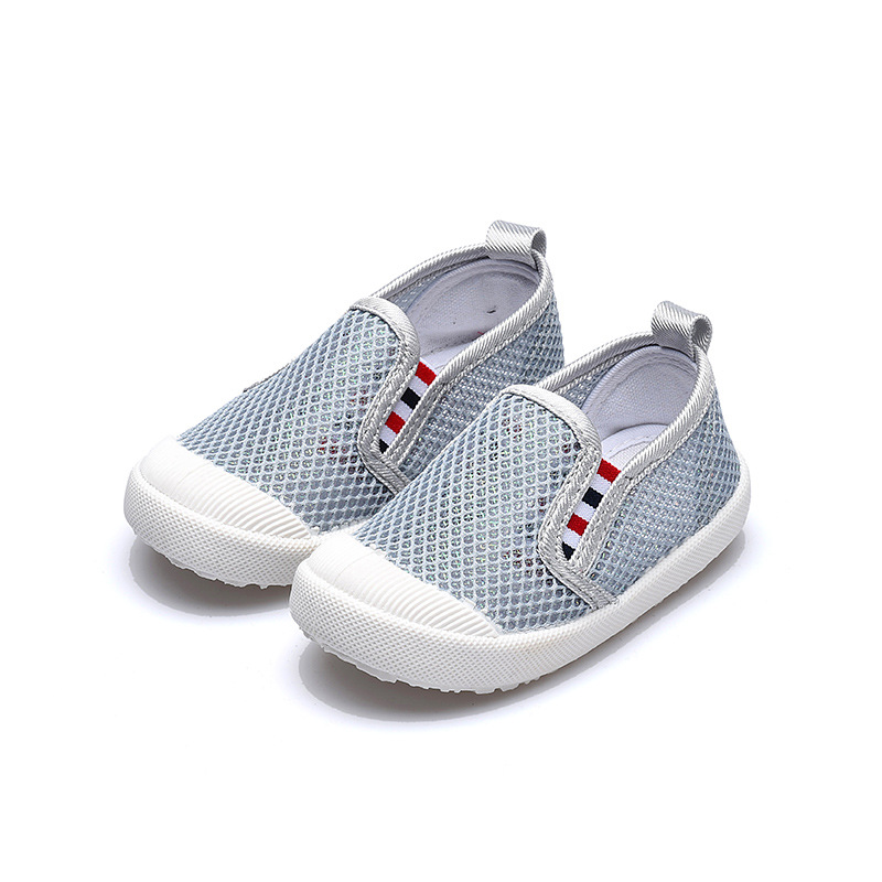 Toddler Breathable Mesh Surface Striped Causal Shoes
