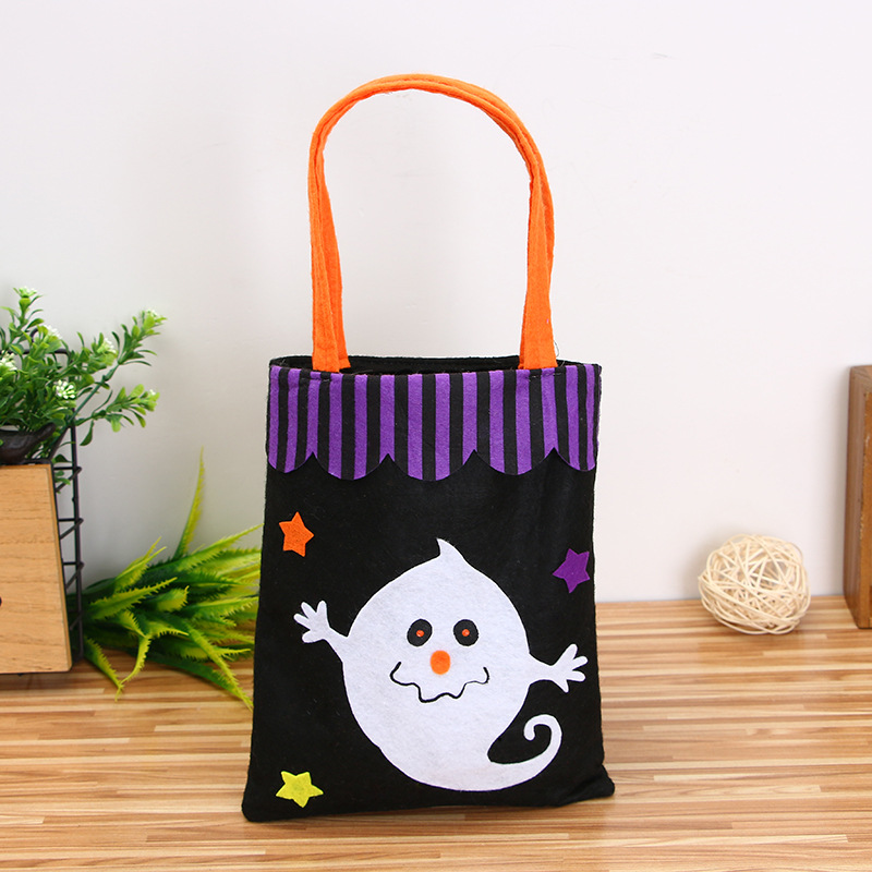 Halloween Pumpkin Ghost Print Non-woven Fabric Tote Bag