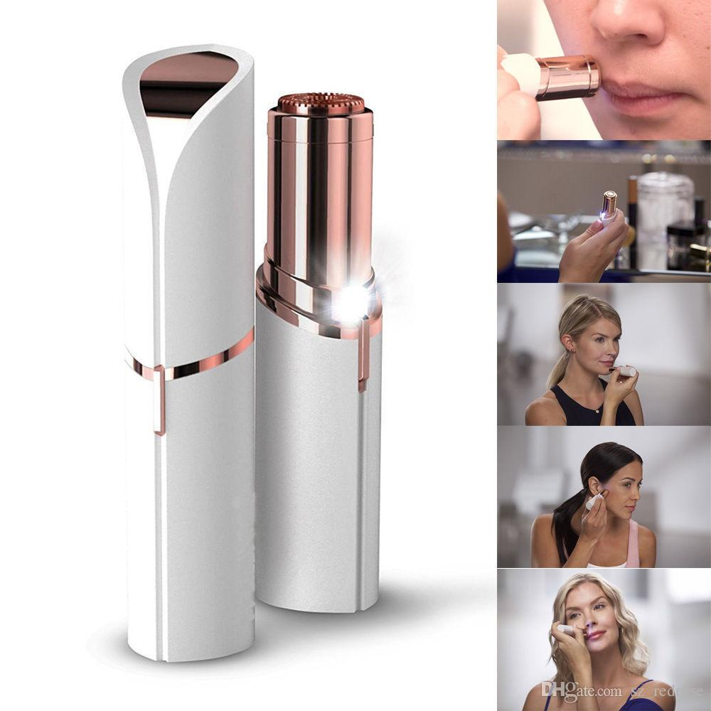 2018 new Lipstick Facial Hair Remover Face Hair Removal Epilator Painless Gold Plated Remover With retail box free shipping