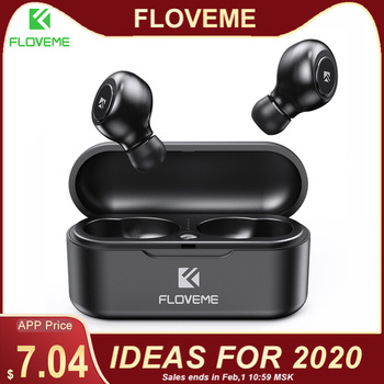 FLOVEME TWS 5.0 Wireless Headset Bluetooth Earphone Headphones For Smart Phone Earphones Stereo Sound Earbuds Dual Microphone