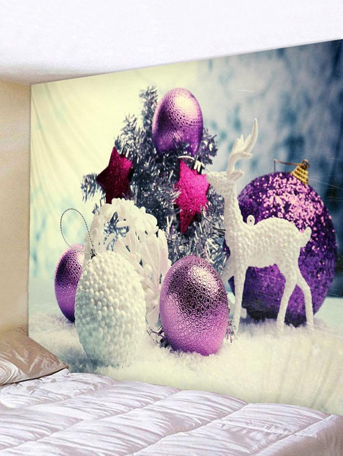 Christmas Deer Star Ball Printed Tapestry Art Decoration