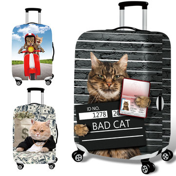 Honana 3D Spoof Cat Elastic Luggage Cover