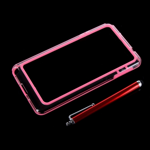 TPU coloré + PC Frame pare-chocs housse Samsung N9000 Galaxy Note3 + stylet stylo rose