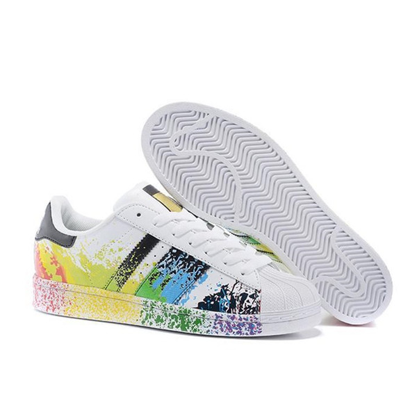 2019 wholesale discount superstar rainbow new low fashion sneaker men's & women's 2016 foundation casual sneaker shoes classic