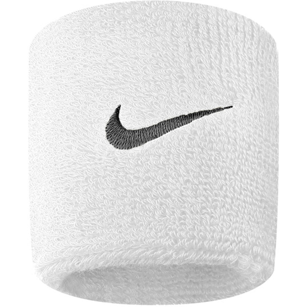 Nike Mens Swoosh Stretchy Cotton Workout Sports Wristbands One Size