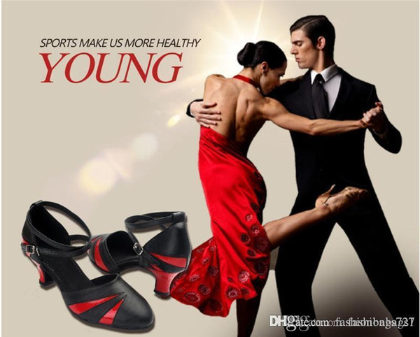 Adult Shoes Latin Tango Women's Ballroom Indoor Dance Modern Ballroom Color Matching Dance Shoes