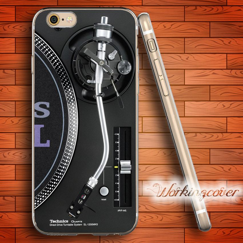 Fundas Technics Turntables DJ Soft Clear TPU Case for iPhone 6 6S 7 Plus 5S SE 5 5C 4S 4 Case Silicone Cover.