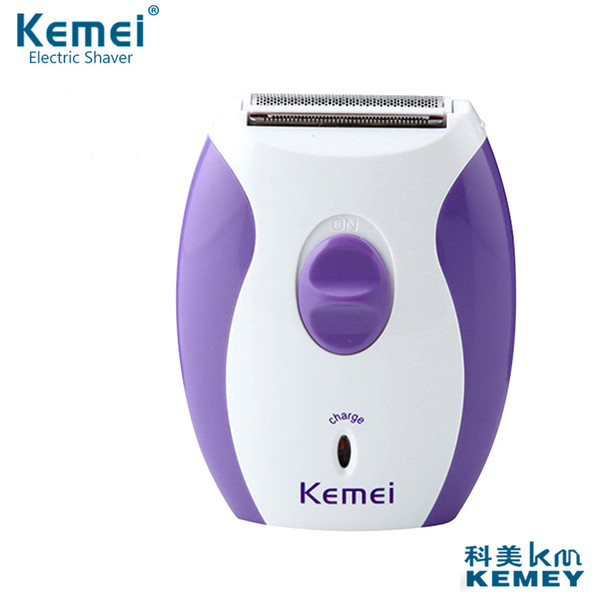 new arrival brand kemei km-280r women rechargeable epilator little and dainty nancy electric shaver hair removal shaving tools