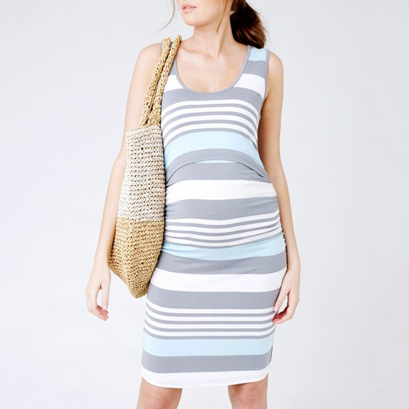Beautiful Sleeveless Maternity Nursing Dress