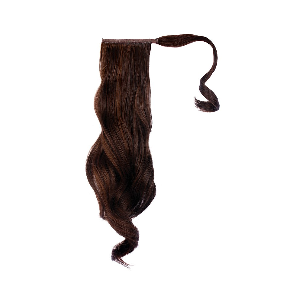 *long wave ponytail chestnut
