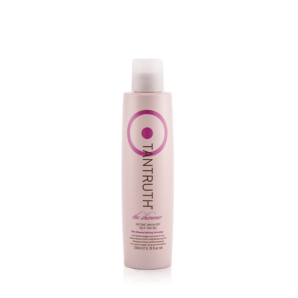 tantruth the shimmer instant wash-off self tan gel 200ml
