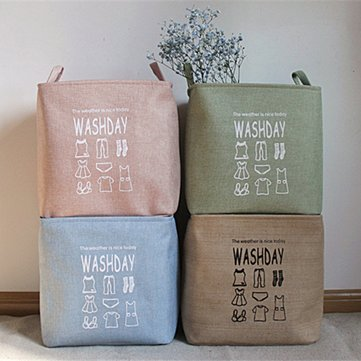 Large Cotton Linen Laundry Basket