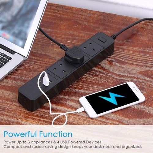 WIFI Smart Power Strip With 3AC Interface and 4 USB Charging Port