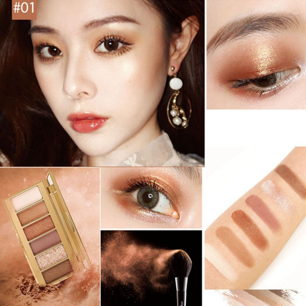 6 colors matte eye shadow pallete beauty diamond eyeshadow lasting glitter eye shadow cosmetics tools