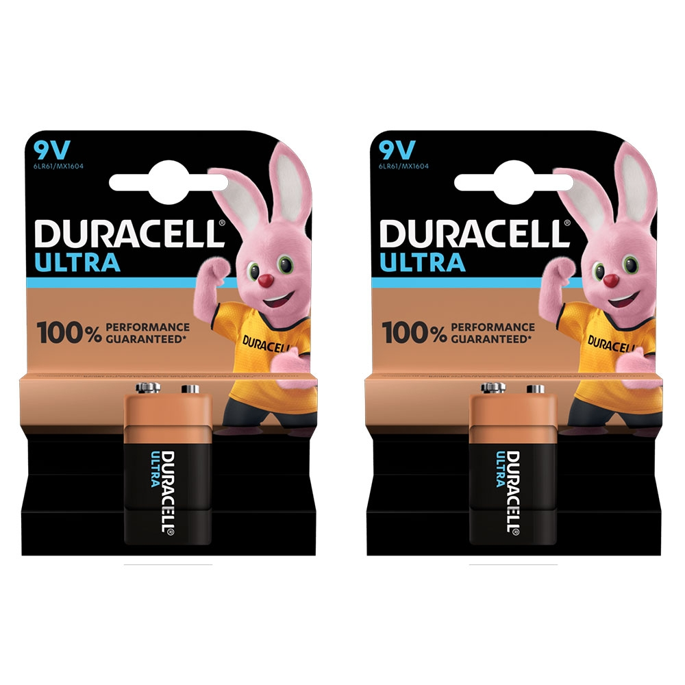 Duracell Recharge ULTRA NiMH Rechargeable Battery 9V PP3 MN1604 6LR61 - Capacity 170mAh