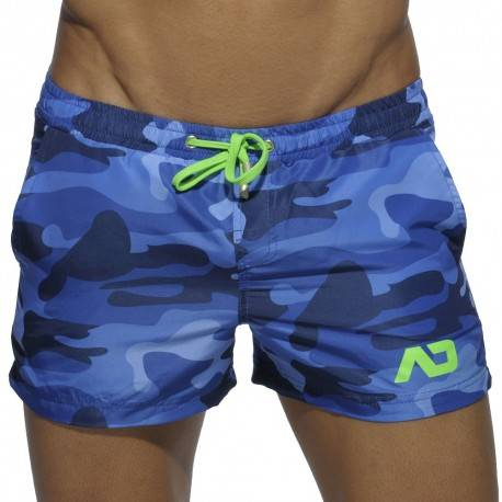 Addicted Swim Short - Navy Camouflage XXL