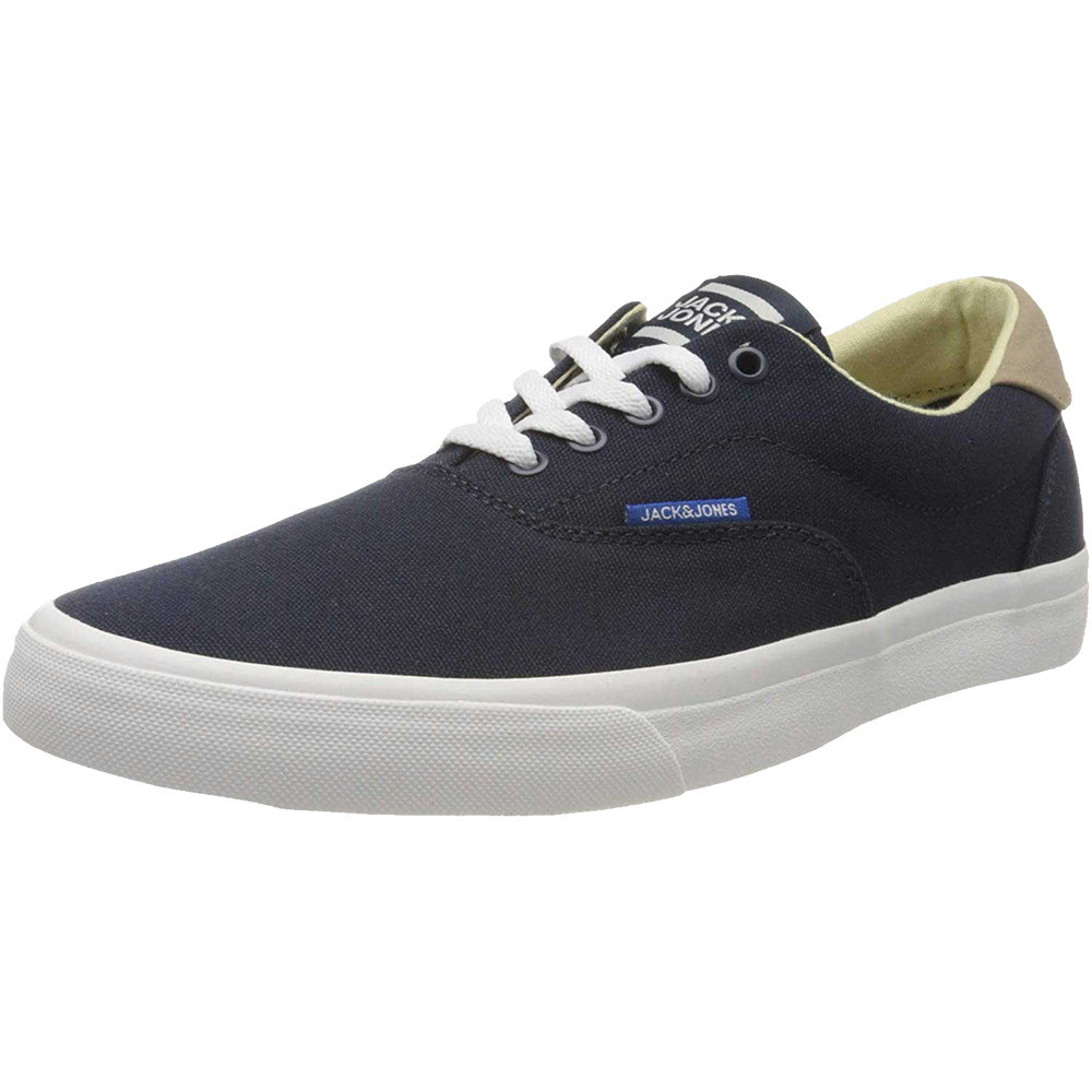 Jack & Jones Mens Canvas Casual Lace Up Trainers Sneakers UK Size 10 (EU 44)