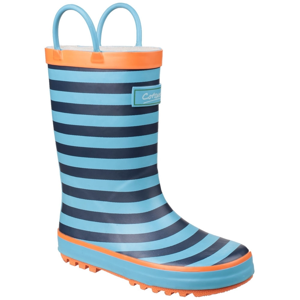 Cotswold Boys & Girls Captain Stripy Light Welly Wellington Boots UK Size 5 (EU 22, US 6)