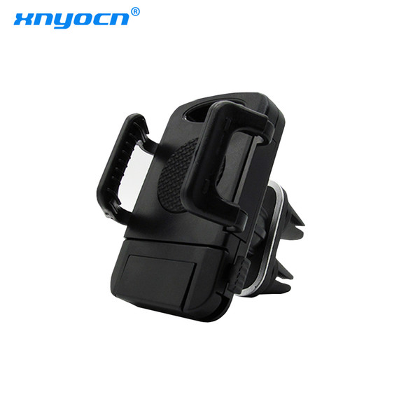 double clip car phone stand very solid/new air outlet mount holder for mobile phone apply to iphone/android width 5- 10.5 cm