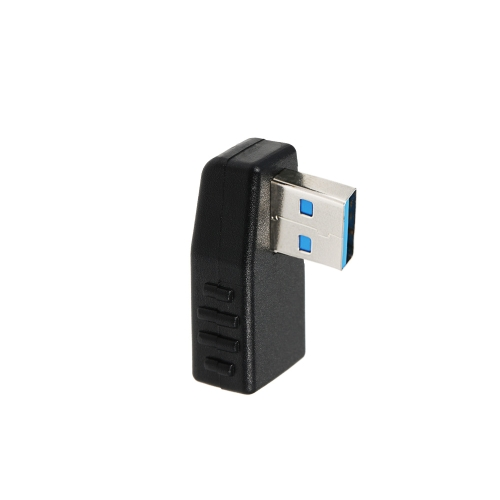 USB 3.0 Adapter Vertical Male to Female Left Angle Type-A Adapter Coupler Connector - Pack of 1