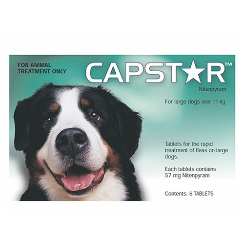 Capstar Large Dog 57 Mg 25.1-125 Lbs Green 6 Tablet