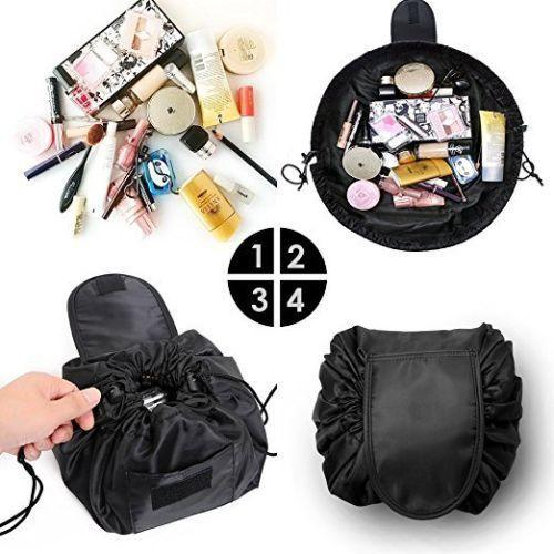 Vely Lazy Cosmetic Bag Drawstring Wash Bag Makeup Organizer Storage Travel Cosmetic Pouch Makeup Organizer Magic Toiletry Bag 9 COLOR BBA107