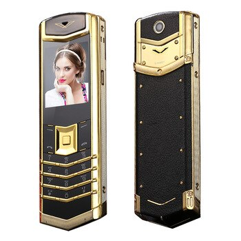 2G GSM Luxury Bar Feature Cellphone Russian Key Single Sim Metal Case Bluetooth Cemera FM High Class Phone