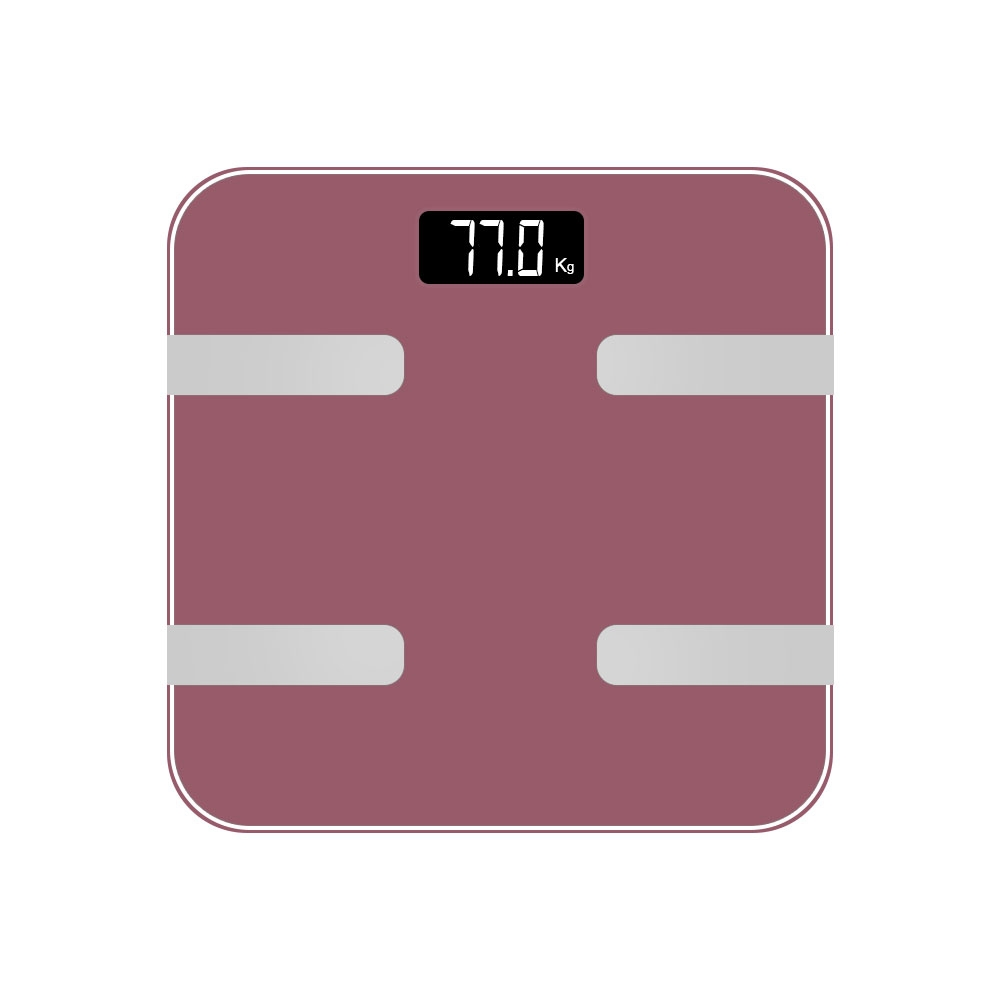 AQ 9 in 1 Digital Bathroom Body Analysis Weighing Scales with Bluetooth - Rose Gold