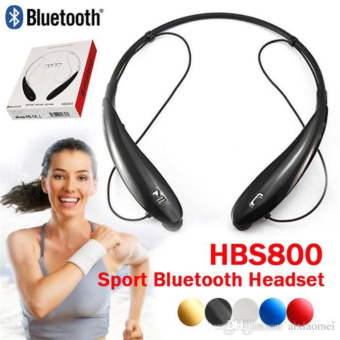 50PCS HB-800 Wireless Bluetooth headset Stereo earphone sport Neckband headphone For LG iPhone Samsung HBS700 HB800 HBS740 HBS760 Heads JH4
