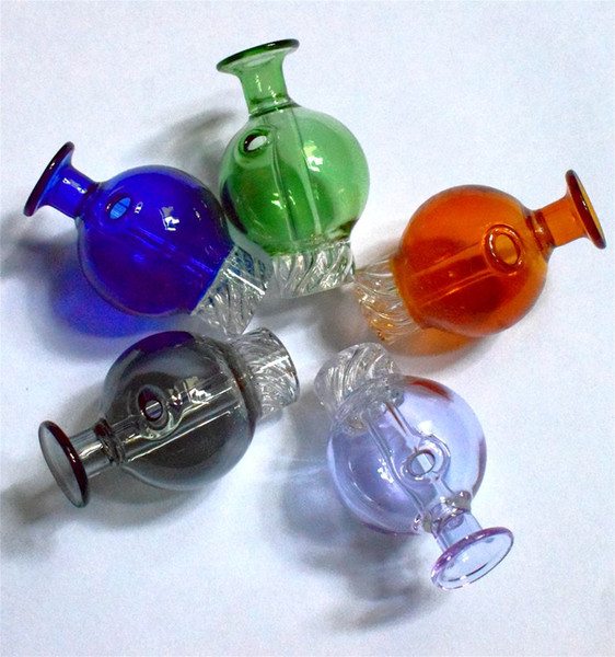 Colored Glass Bubble Dab Cyclone Riptide Spinning Carb Cap 29mmOD Glass Carb Caps For Flat Top Quartz Banger Nails Glass Water Bongs Pipes