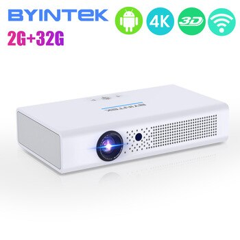 UFO Series R19 BYINTEK Projector 300inch 3D Smart Android WIFI Video LED Portable Mini HD DLP Projector for Full 1080P HDMI 4K