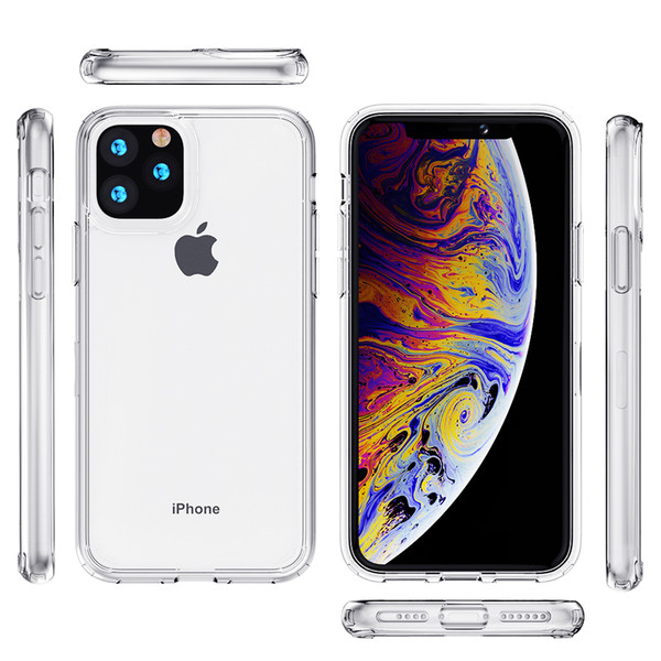 for iphone 12 11 pro max 7/8 plus xr xs max transparent phone case a21s g stylus a11 tpu acrylic clear a