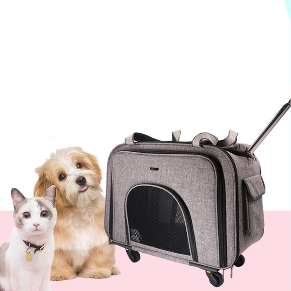 dodopet pet dog carrier with wheels carrier with removeable wheels pet rolling dog