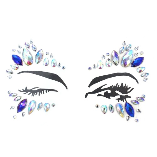 DIY Eyebrow Face Body Art Adhesive Tattoo Stickers Makeup Decorations