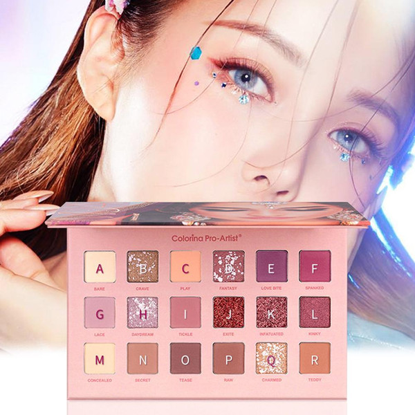 epacket diamond cover 18 color desert rose eye shadow palette matte shimmer pearlescent waterproof eyeshadow box #