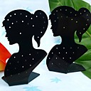 Fashion Acrylic Beauty Lady Jewelry Display Stand For  Earrings (Black) (1pc)