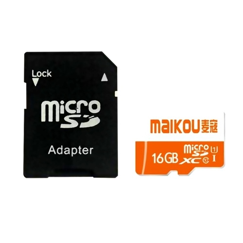MaiKou High Speed TF-Karte Micro SD-Karten Telefonspeicherkarte 16 GB und Adapter