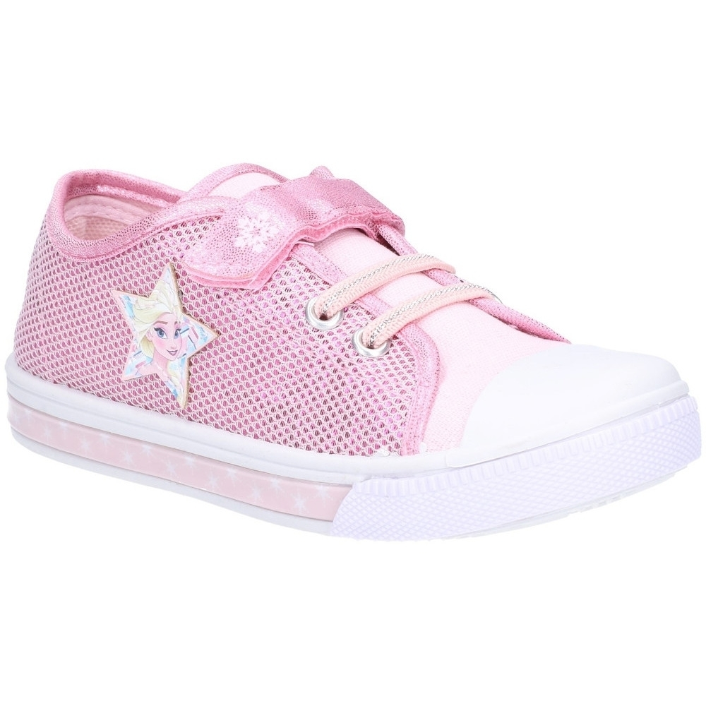 Leomil Girls Frozen Low Lightweight Canvas Plimsoll Trainers UK Size 6.5 (EU 24)