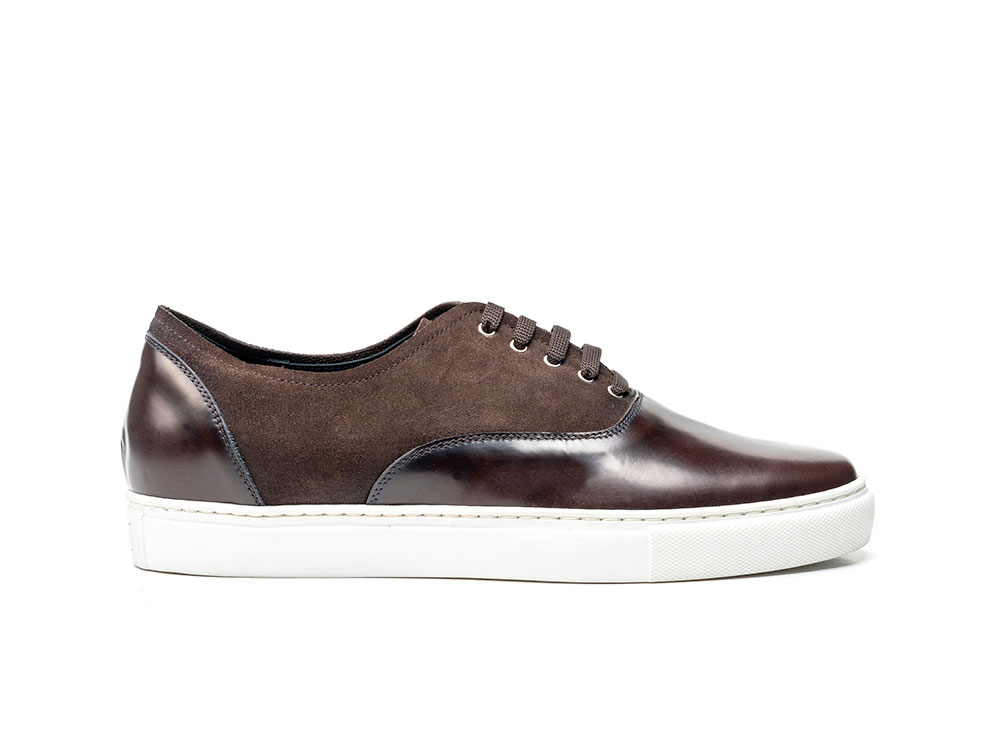 Danilo - Sneakers oxford calf crust suede coffee