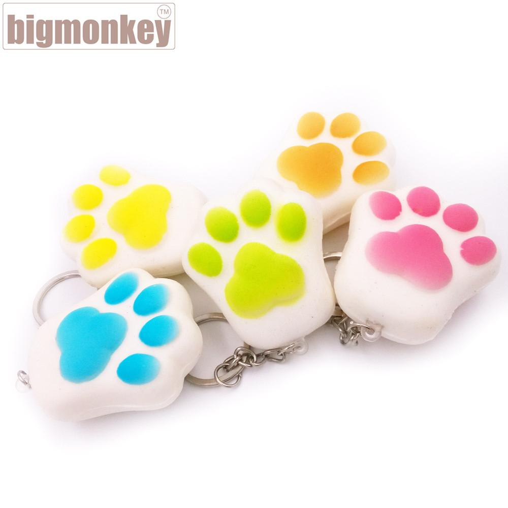 NEW 40pcs/Lot Kawaii Soft Cartoon Squishy Bread Puppy Footprint Collectibles Kid Toy