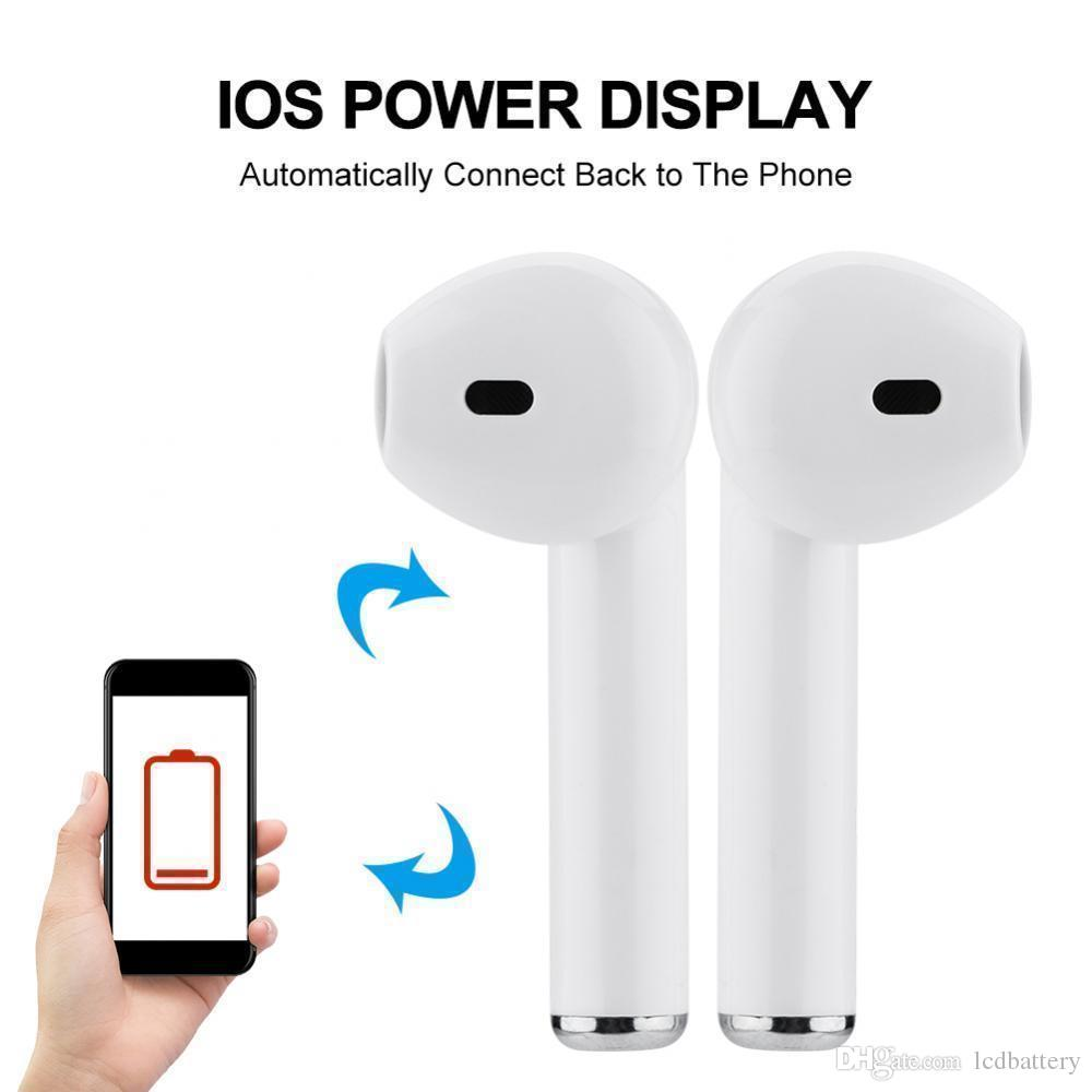 i9 i7S TWS Twins Mini Bluetooth Earphone Wireless Headphone With Charger Dock Earbuds V4.2 Stereo Headset For iPhone Xs Max 8 7 Plus Android