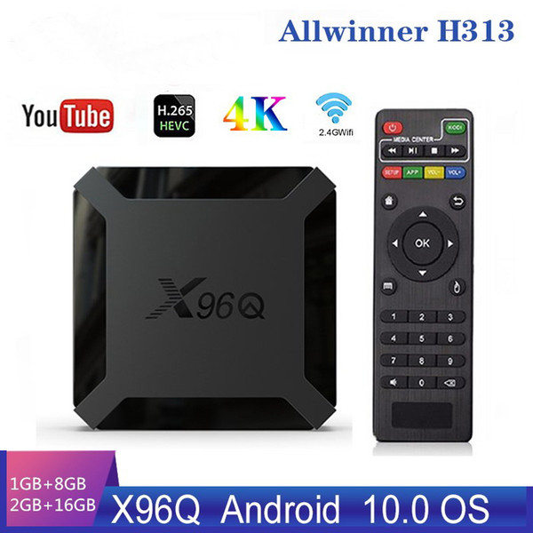 X96Q Smart Box Android 10.0 TV Box Allwinner H313 Quad Core 2GB 16GB Support 4K X96 Q Set Top Box Media Player